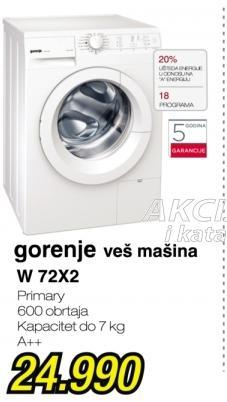 Veš mašina W 72x2