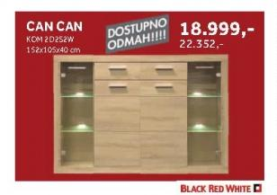 Komoda Kom2d2s2w Can Can Black Red White