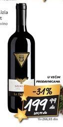 Crveno vino La Delizia Merlot