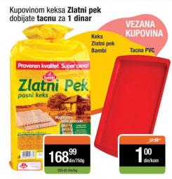 Tacna PVC, kupovinom keksa Zlatni Pek 750 g