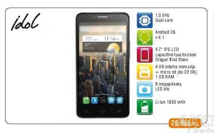 Mobilni telefon OneTouch 6033 Idol