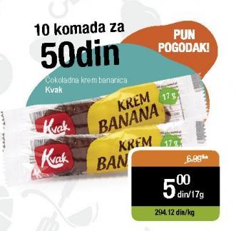 Čokoladica Bananica