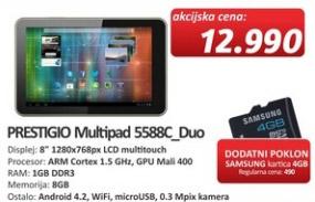 Tablet Multipad 5588C-Duo + poklon kartica 4GB Samsung
