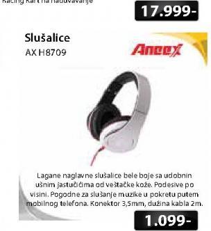 Slušalice AX H8709
