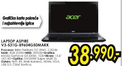 Laptop Aspire V3-531G-B9604G50MAKK
