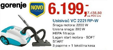 Usisivač Vc2221rp-w