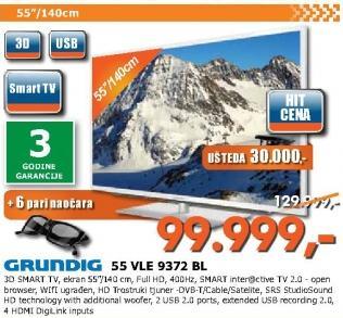 Televizor LED 55 VLE 9372 BL
