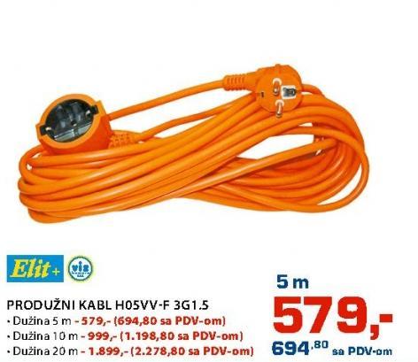 Produžni kabl 20m H05vv-f3g1.5