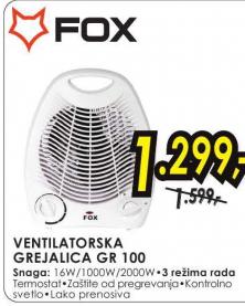 Grejalica Ventilatorska GR 100