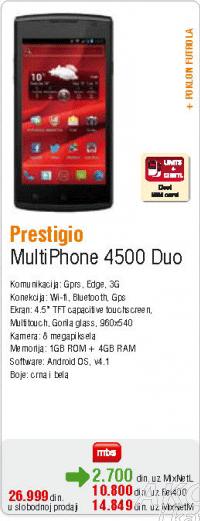 Mobilni Telefon MultiPhone 4500 Duo