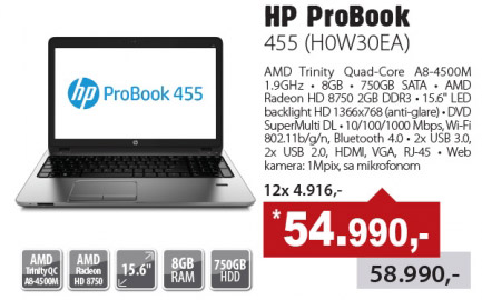 Laptop ProBook 455 (HOW30EA)