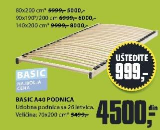 Podnica Basic A40 90x190/200cm