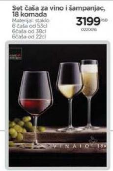 Set čaša za vino i šampanjac