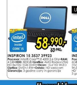 Laptop Inspiron 15 3537 39923