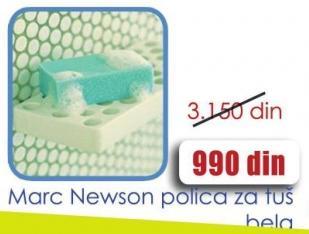 Polica za tuš Marc Newson bela