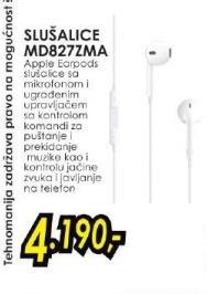 Slušalice MD827ZMA