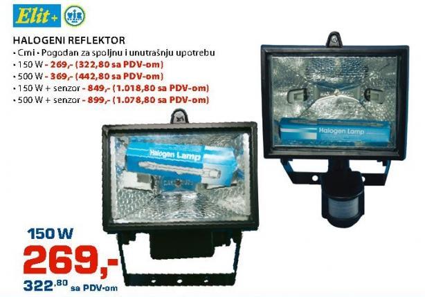 Halogeni reflektor 150W