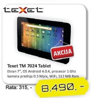 Tablet Tm 7024 Texet