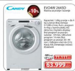 Mašina za pranje i sušenje veša EVO4W 2643D