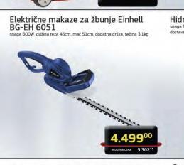 Električni trimer za živu ogradu BG-EH 6051