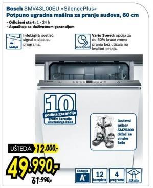 Mašina za pranje sudova SMV43L00EU