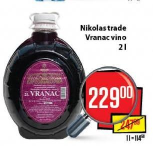 Crno vino Vranac Nikolas