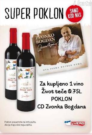 Uz kupljeno vino Život teče poklon CD