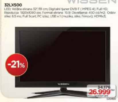 Televizor Wissen 32LX500