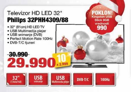 "Televizor LED 32"" 32phh4309/88"
