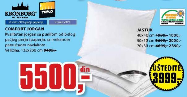 Jastuk Comfort 70x80 cm