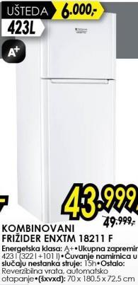 Kombinovani Frižider ENXTM 18211 F