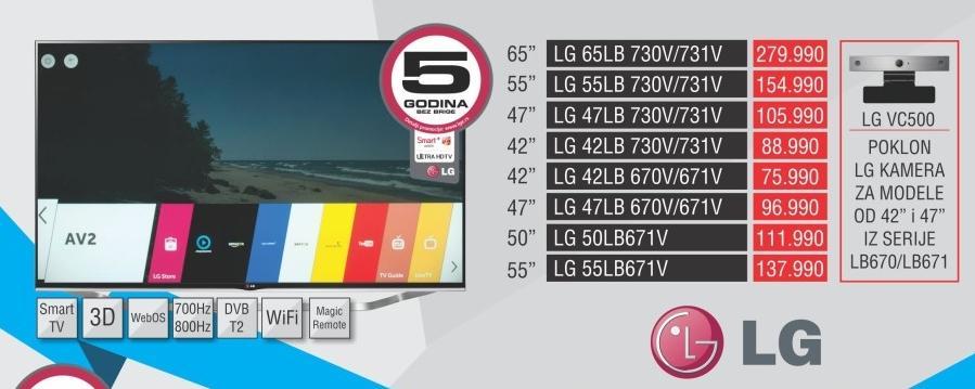 """Televizor LED 42"""" 3D 42lb670v"""