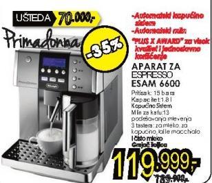 Aparat za espresso Esam 6600 + Poklon 1kg Doncafe