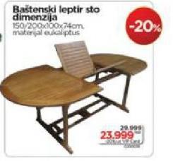Baštenski leptir sto