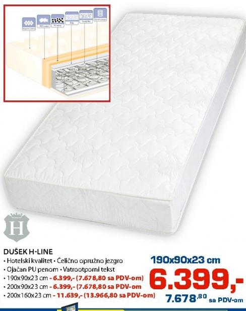 Dušek H-line 200x90x23cm