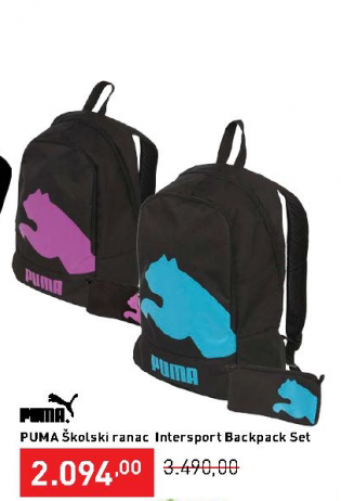 Školski ranac Intersport Backpack Set, PUMA
