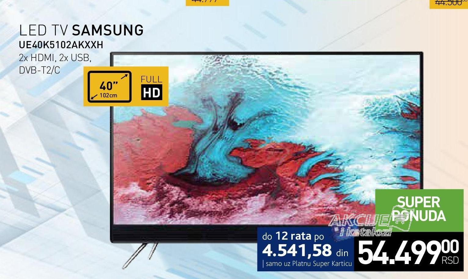 """Televizor LED 40"""" UE40K5102AKXXH"""