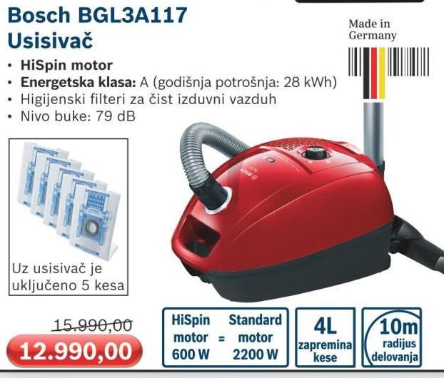 Usisivač BGL3A117
