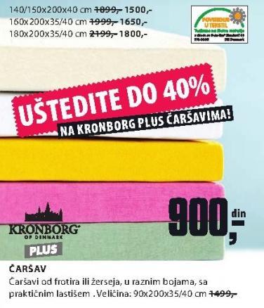 Čaršav 90x200x35/40