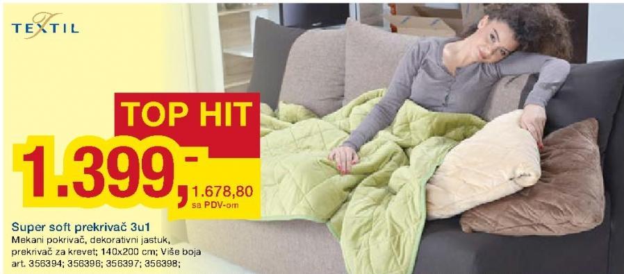Super Soft prekrivač 3 u 1 Textil