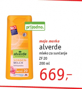 Mleko za sunčanje SPF20