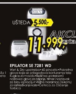 Epilator SE 7281 WD