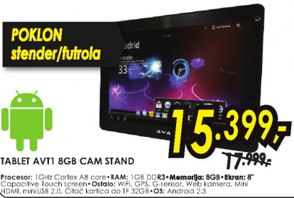 Tablet AVT1 8GB CAM STAND