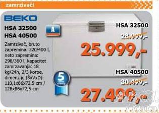 Zamrzivač  HSA 40500