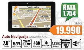 Auto navigacija GeoVision 7777