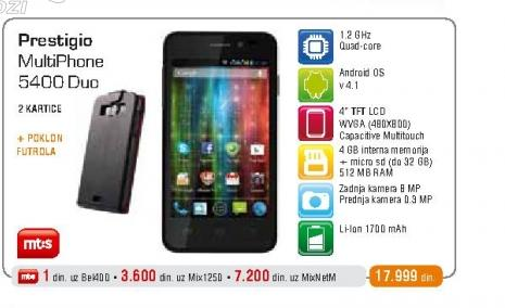 Mobilni telefon 5400 MultiPhone
