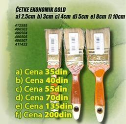 Četka Ekonomik Gold 8cm