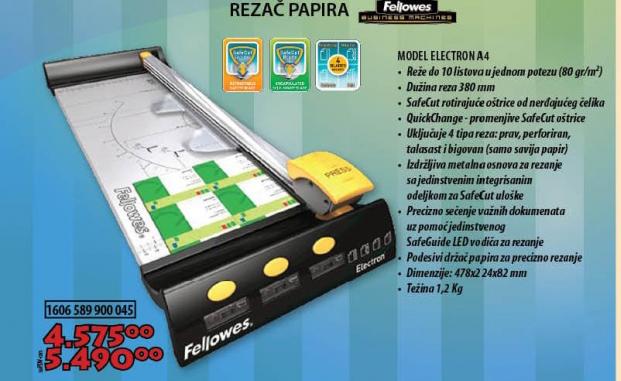 REZAČ PAPIRA ELECTRON A4
