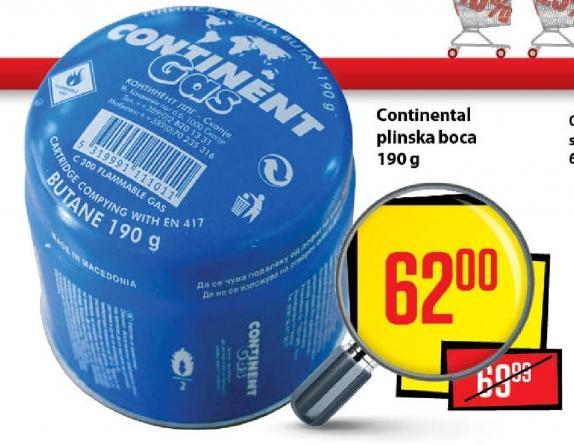 Continental plinska boca