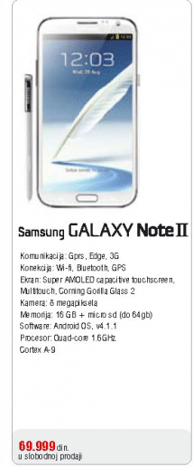 Mobilni Telefon GALAXY Note II